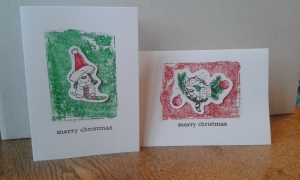 Penny Black Holly Day Critters Christmas cards.