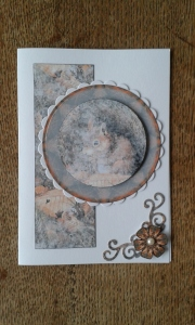 Using up scraps when card making