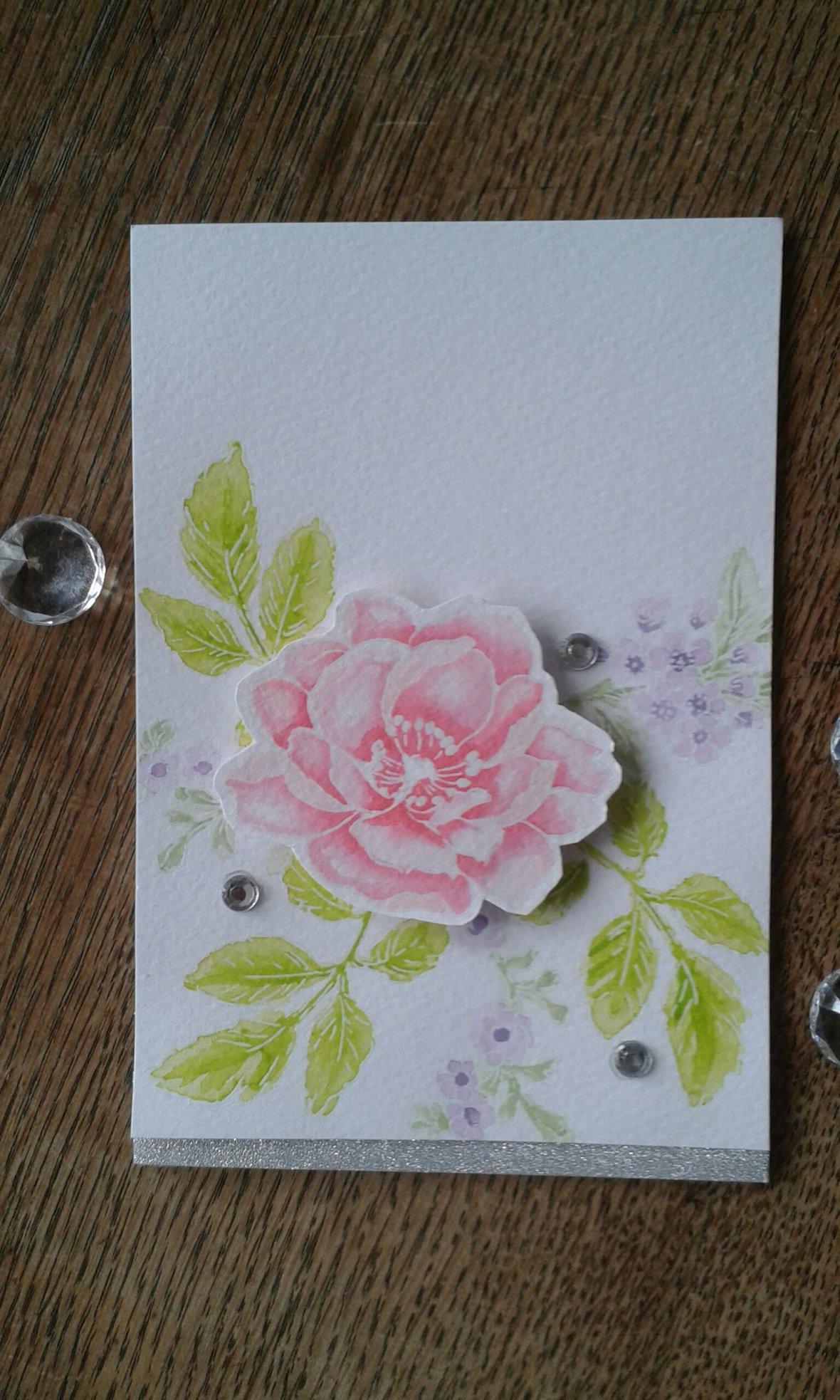 Altenew Beautiful Day watercolour stamping.