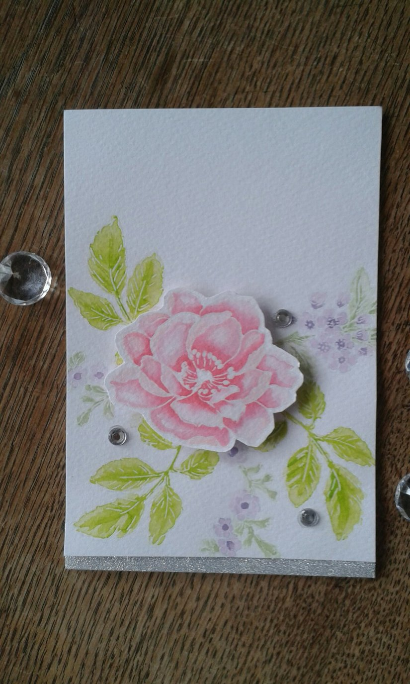 Altenew Beautiful Day watercolour stamping.