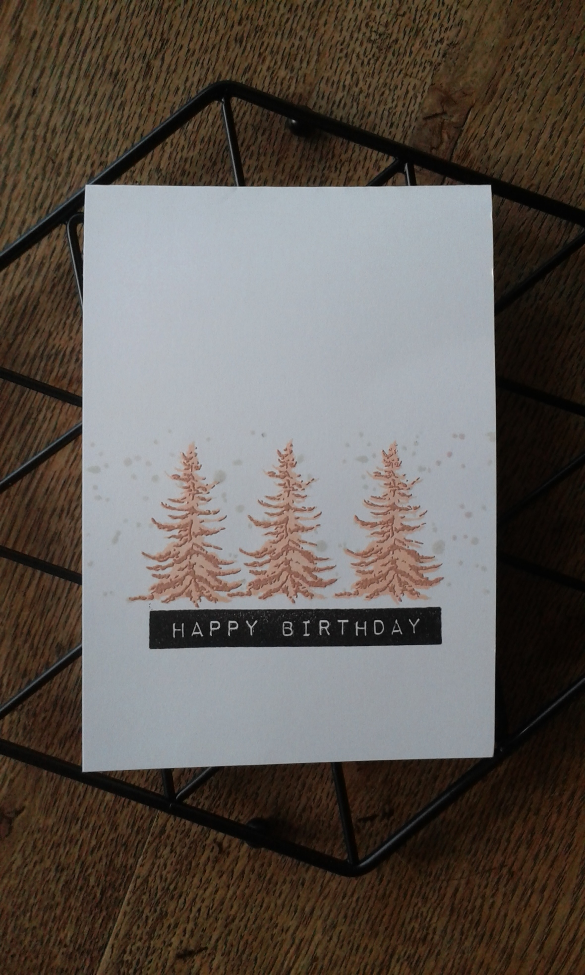 Altenew pine trees, label love and snowing for CAS(E) this sketch.